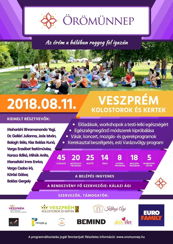 Örömünnep 2018 Veszprémi Varázslat Rendezvény Hivatalos plakátja
